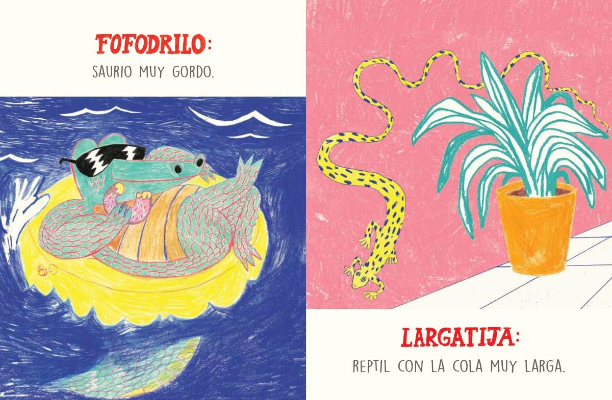 De no perderse este libro ilustrado por la dibujante Power Paola, Diccionadario, escrito por Dario Jaramillo y publicado por Cataplum Libros.